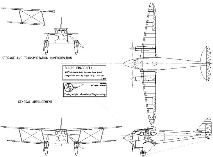 DH-90 3-view